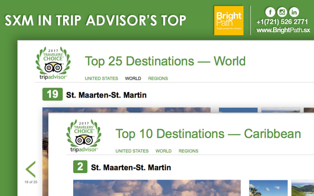 St. Maarten in Trip Advisor's TOP 25 World Destinations And 2ND in Caribbean