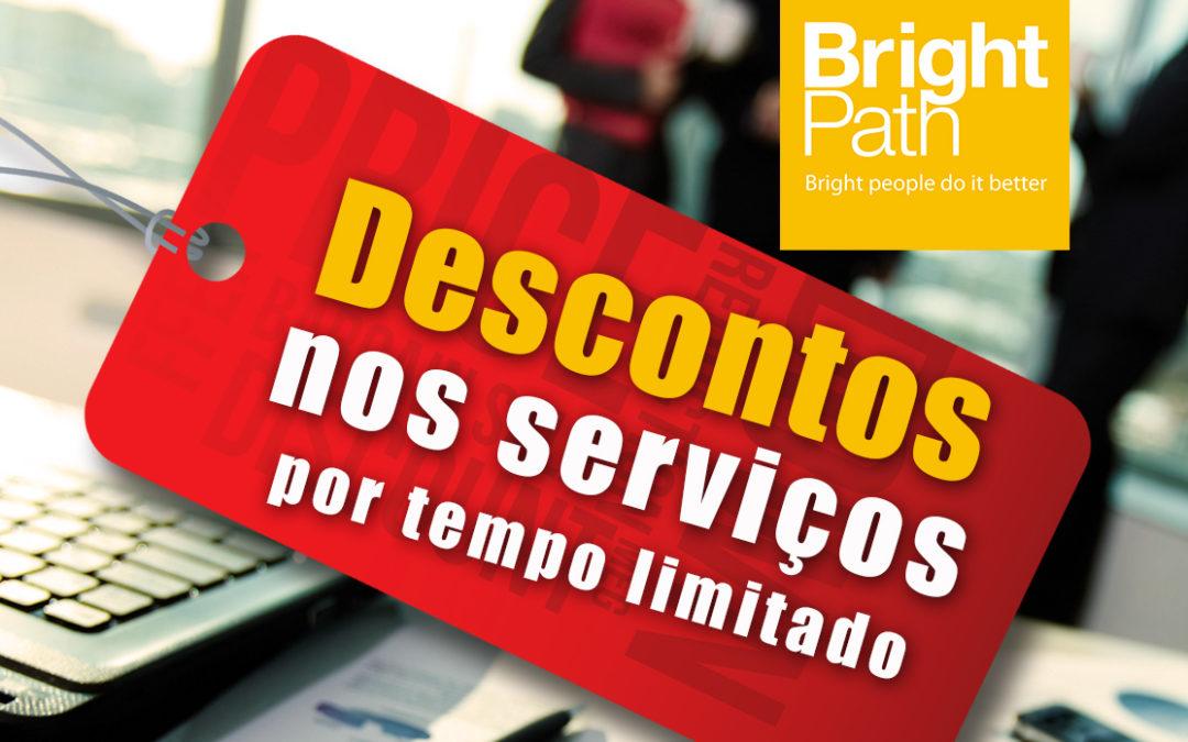 Alerta de descontos nos serviços BrightPath!