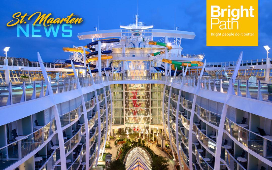 El mayor barco de cruceros del mundo Harmony of the Seas realiza parada inaugural en St. Maarten